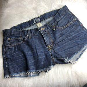 Like new Lucky Brand Riley cut off denim shorts 2